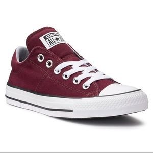 Burgundy Converse Chuck Taylor Madison sneakers